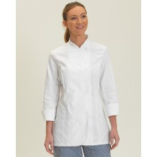 Dennys Ladies L/Sleeve Chefs Jacket