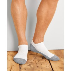 Gildan Platinum No Show Mens Socks (Whi)