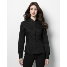 Ladies' Long Sleeved Mandarin Collar Bar Shirt