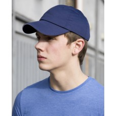Unwashed Fine Line Cotton Cap With Sandwich Peak
